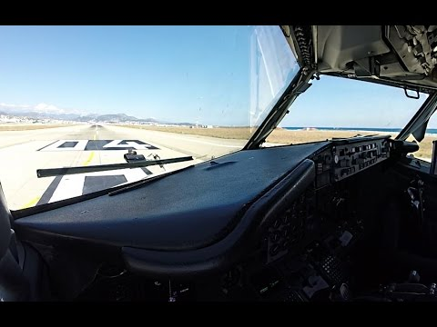 Awesome Cockpit-View Takeoff from Nice, Côte d'azur!