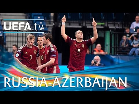 Futsal EURO Highlights: Lima's hat-trick for Russia against Azerbaijan