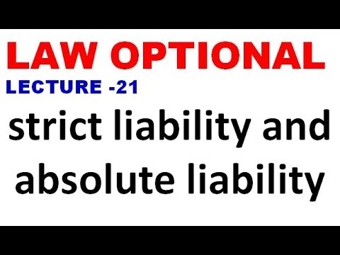 strict liability and absolute liability / law optional upsc bpsc uppsc ias pcs lecture 21