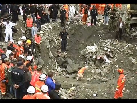 Rescue Efforts Continue as More Personnel Arrive at Landslide Site in China's Sichuan