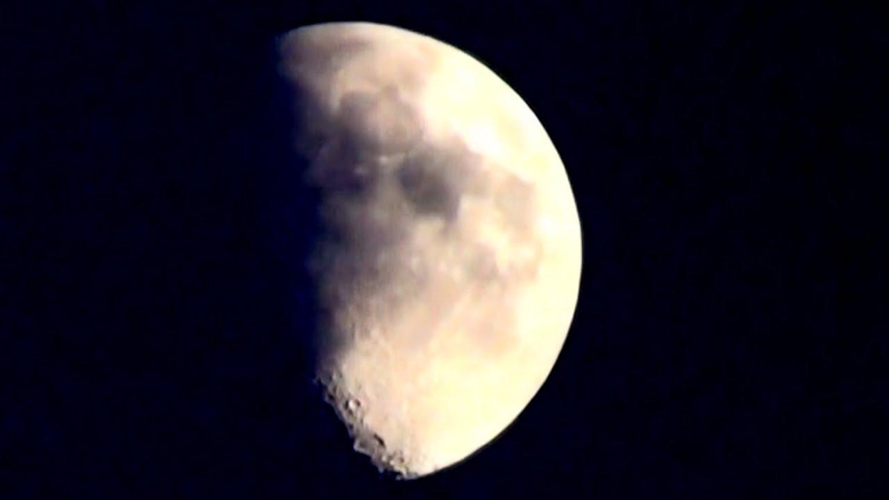 Luna Cuarto Creciente por la tarde y primera mitad de la Noche - YouTube