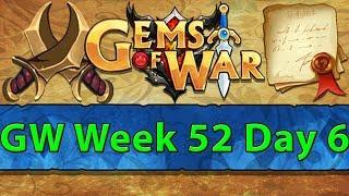 ⚔️ Gems of War Guild Wars | Week 52 Day 6 | HP as Damage ⚔️