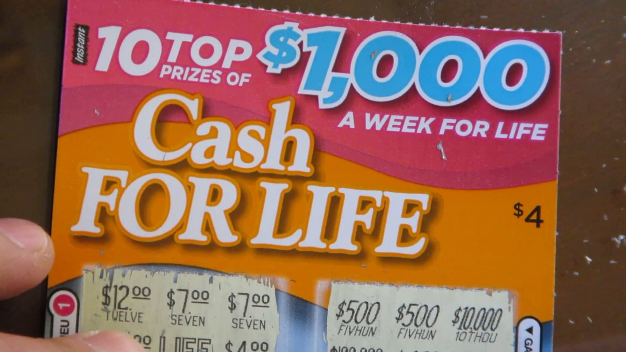 CASH for LIFE Instant Scratch Ticket Winner
