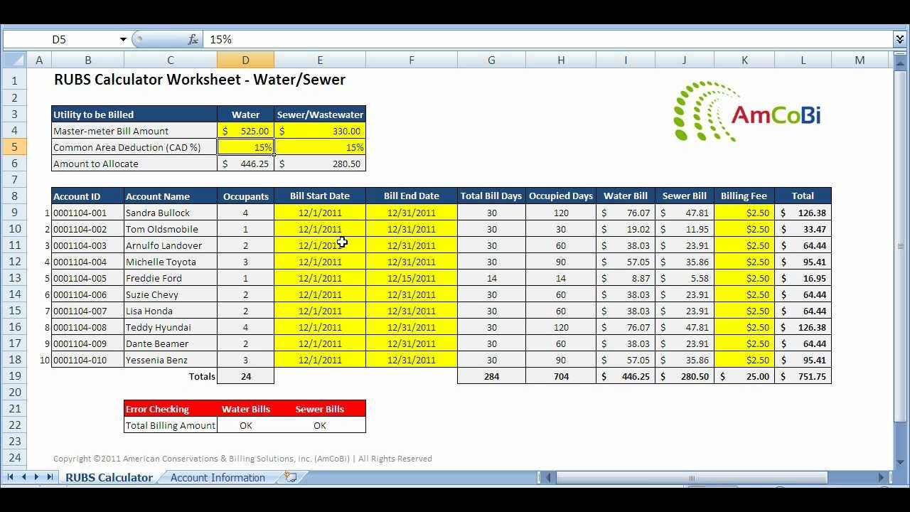 How To Calculate A Rubs Water Sewer Bill Part 2 Youtube