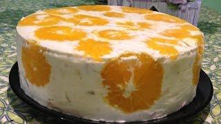 Вкусный и простой Фруктовый торт (лёгкий торт)