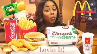 Is McDonald's Hi-C Orange Back? McDonald's New Sweet N' Spicy BBQ Glazed Tenders Mukbang & Review!