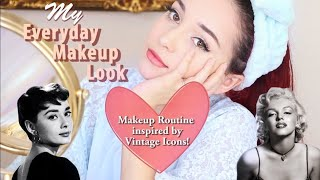 My Everyday Makeup Routine (Vintage Inspired) | Get Ready With Me!