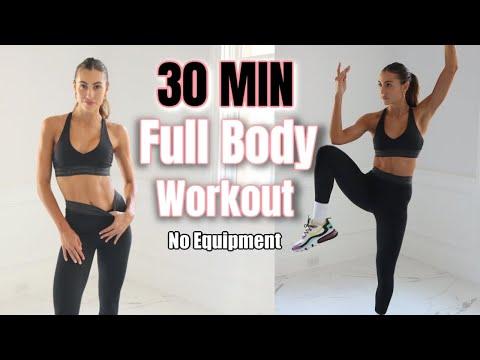 30 MIN Full Body Workout // No Equipment // Sami Clarke #FitAtHome