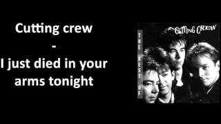 Cutting crew i just died in your arms tonight subtitulada al español