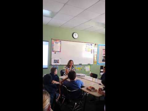Visit to Oasis Charter Middle School to talk about FCAT