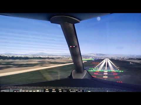 Посадка в Ереване S7  FSX