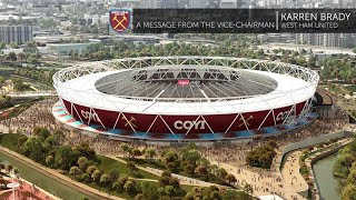 NEW STADIUM: A message from the Vice-Chairman