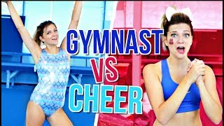 GYMNAST TRIES CHEERLEADING!