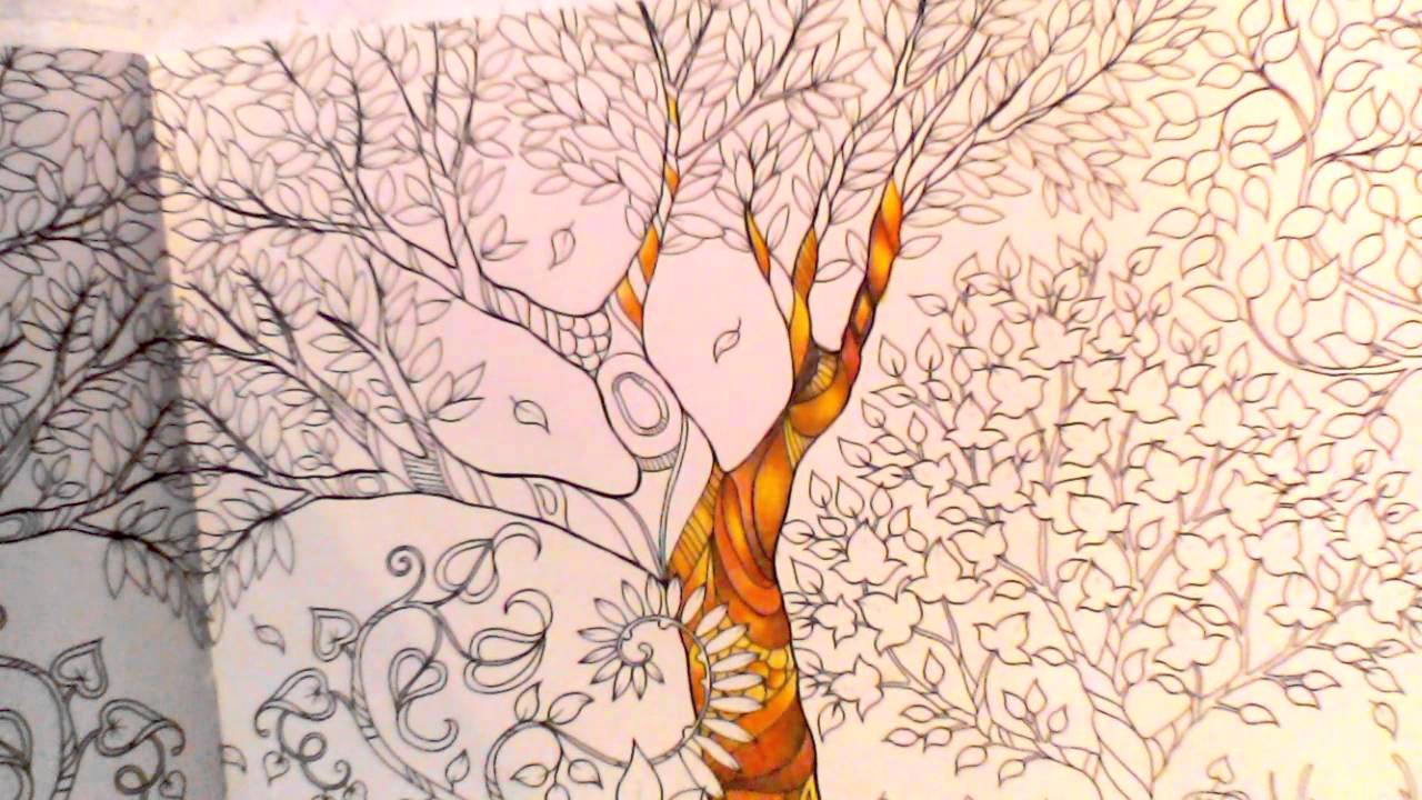 enchanted forest coloring book tutorial youtube