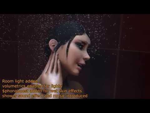 Sfm Shower Scene 4k 60fps Effect Tests Youtube