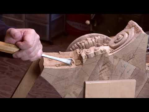 "Wood carving ""Capital"" of the composite order ( oak)"