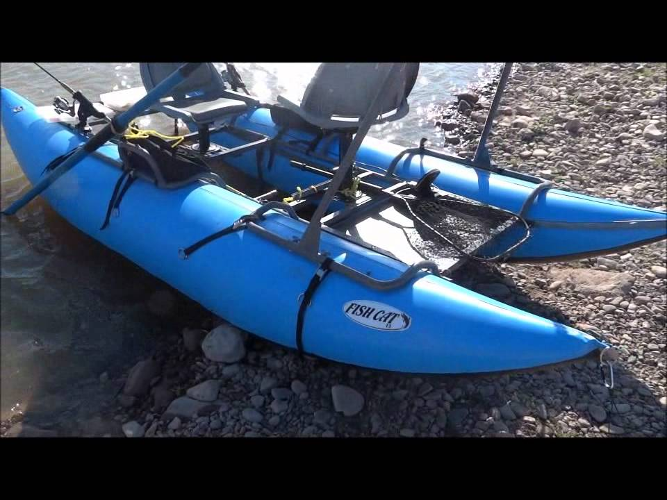 Inflatable Pontoon Boat Outcast Fish Cat 13 Youtube