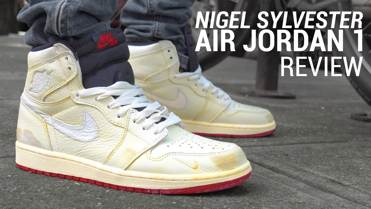 huge discount 7f5e5 24d19 NIKE AIR JORDAN 1 NRG X NIGEL SYLVESTER REVIEW & ON FEET - YouTube