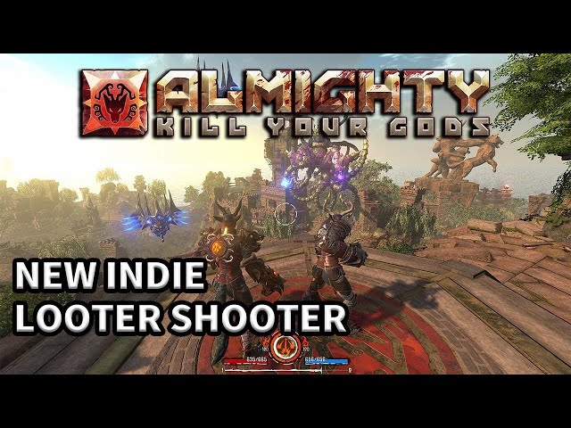 New Indie class-based Multiplayer Looter Shooter Almighty: Kill Your Gods | PC DEMO