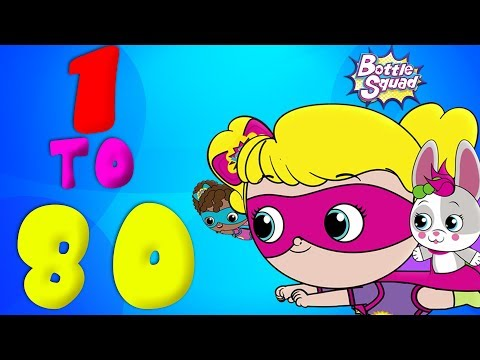 Numbers Adventure 1 to 80 | Numbers Song | Learn Numbers | Preschool Song | Bottle Squad kids TV