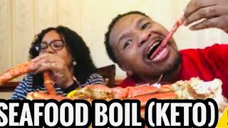 SEAFOOD BOIL  KETO (STORY TIME / ,KING CRAB LEGS,SNOW CRAB LEGS/HUGE SHRIMP/SAUSAGE/EGGS/,CORN/ ⚠ 😀