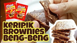KERIPIK BROWNIES BENG-BENG DRINK   BENG-BENG BROWNIE CHIP   RESEP MBUK AL