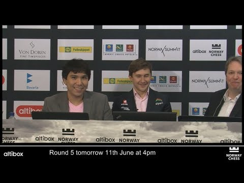 ANALYSIS WITH WESLEY SO AND SERGEY KARJAKIN AFTER GAME - NORWAY CHESS 2917 ROUND 4