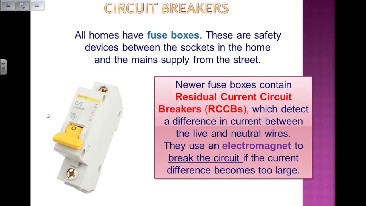 fuses and circuit breakers gcse physics revision youtubefuses and circuit breakers gcse physics revision