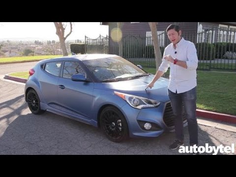 2016 Hyundai Veloster Turbo Rally Edition Test Drive Video Review w Matte Blue Paint