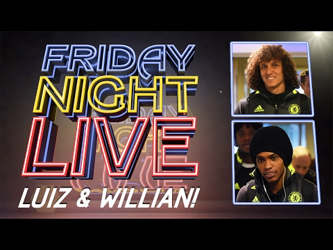 FRIDAY NIGHT LIVE: David Luiz and Willian dressing room tour