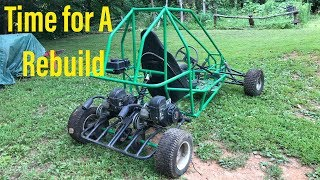 rebuilding the old dual engine go kart part 1