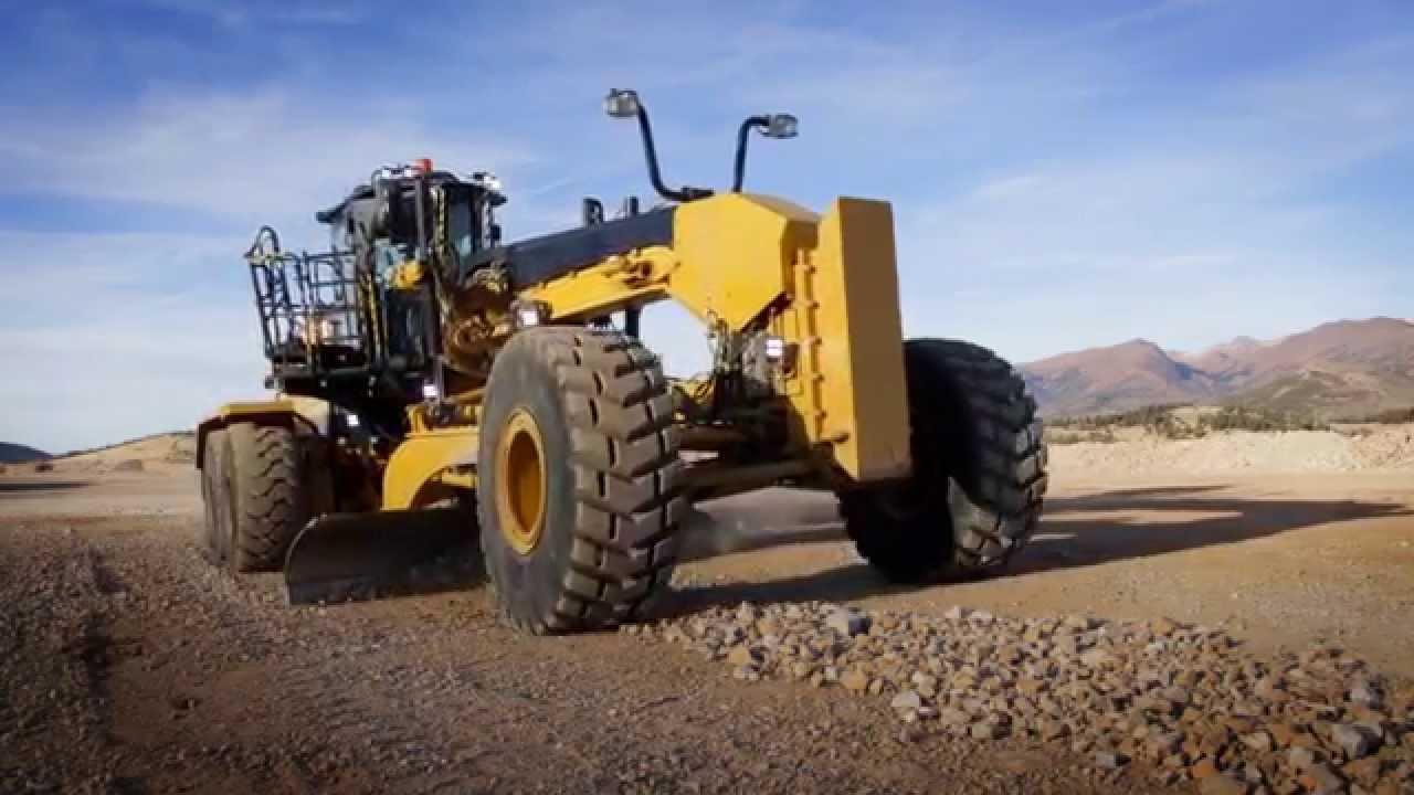 Cat mining motor grader 16m3 operating cost reduction for Cat 24h motor grader