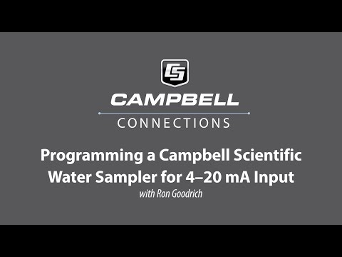 Configuring a Campbell Scientific water sampler for 4-20 mA Input with Ron Goodrich