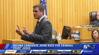 Second candidate joins race for Criminal Court Judge
