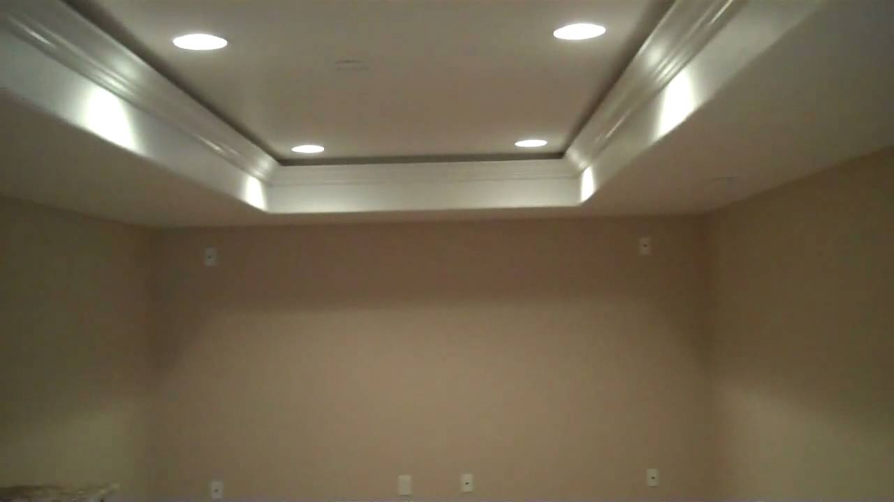 colorado basement finishing tv greater heights with tray ceilings youtube