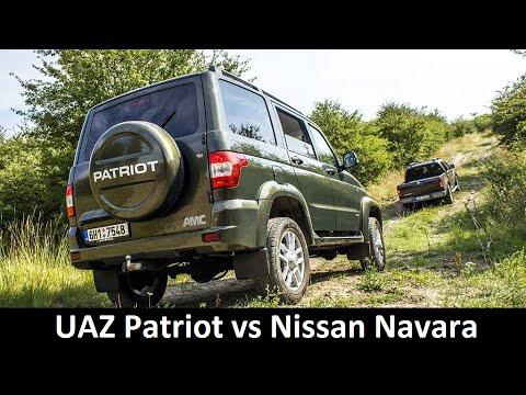UAZ Patriot AMC and Nissan Navara - Complete review (English with CZ sub.)