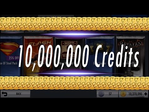 Buying 10 MILLION Power Credits/Coins Of Injustice Packs -Opening Gods Among Us Phone Game Challenge