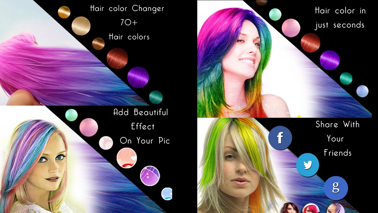 Android App For Change Hair Color Of Your Photos Youtube