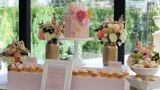 Wedding Buffet Ideas: Using Flowers For Buffet Table Decorations