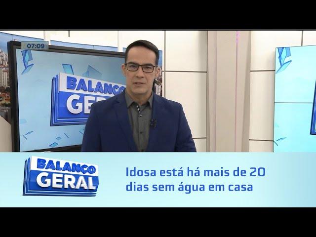 Peleja da Dona Conceição: Idosa está há mais de 20 dias sem água em casa