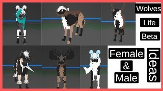 Roblox | Wolves' Life Beta | Regular Female & Male Wolf Ideas