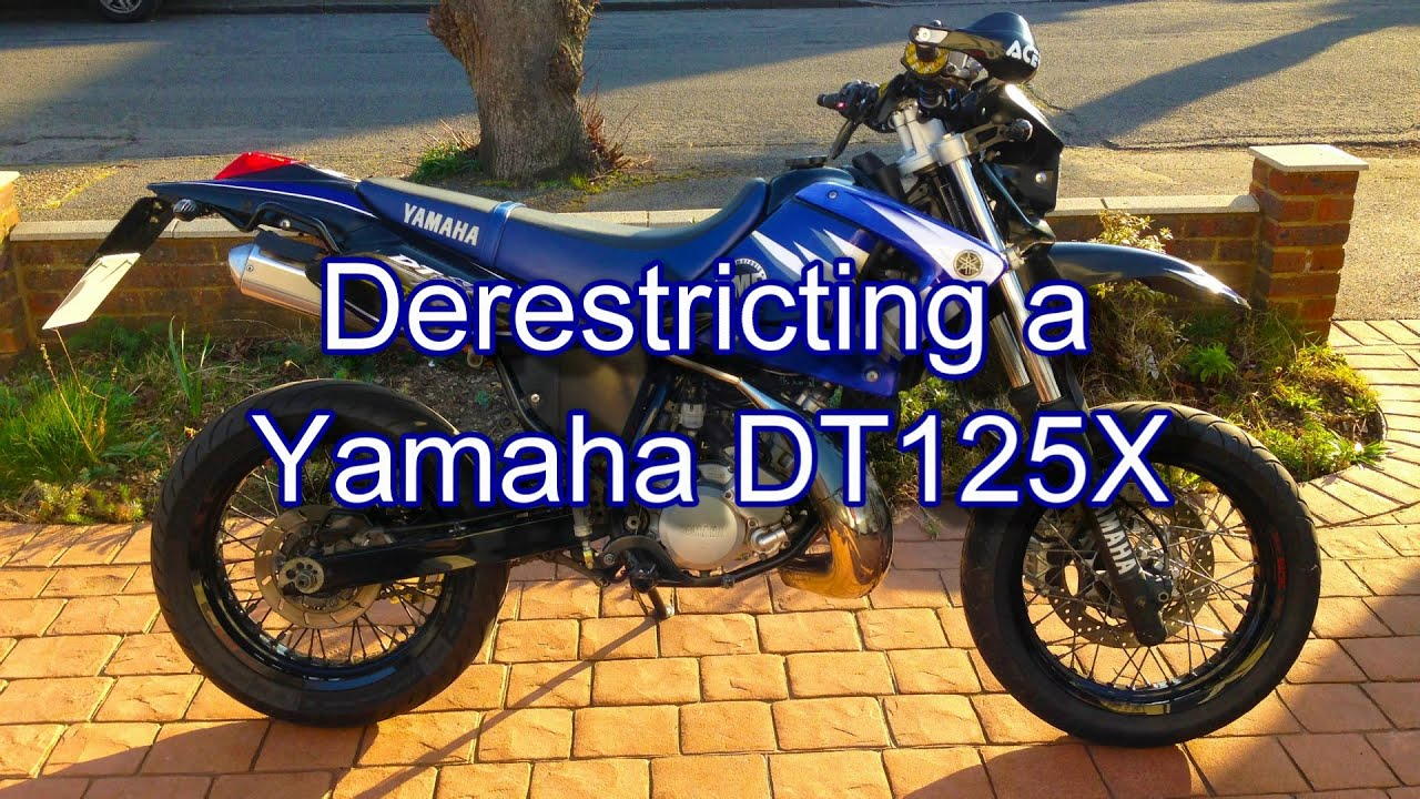 how to derestrict a yamaha dt 125 x re youtube. Black Bedroom Furniture Sets. Home Design Ideas