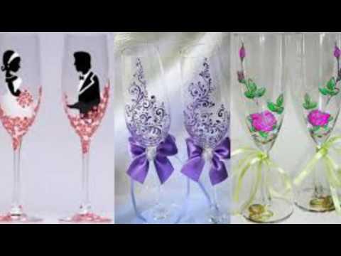 Видеозапись 12 Идей для декора бокалов на свадьбу