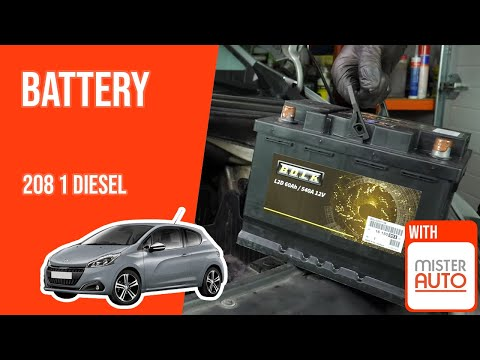 How to replace the car battery Peugeot 208 1 1.6 BlueHDI 🔋