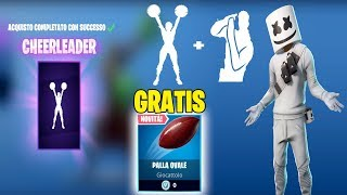 EMOTE CHEERLEADER AND BALL OVAL FREE IN THE SHOP OF TODAY FORTNITE