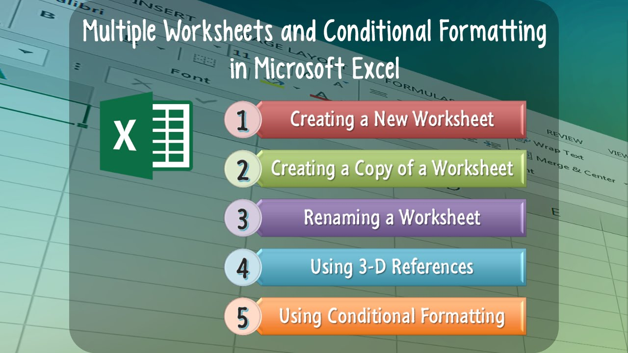 Excel Lesson 05: Multiple Worksheets and Conditional Formatting in ...