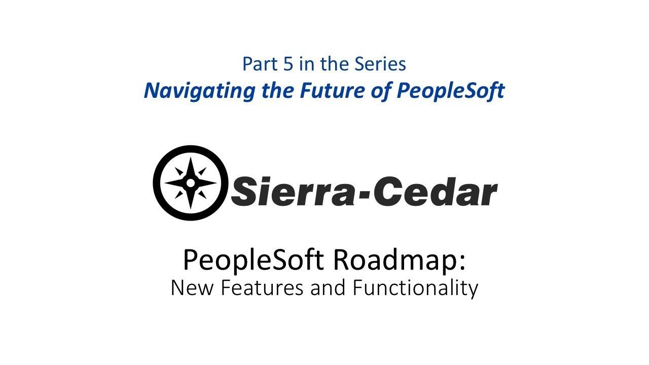 PeopleSoft 9 2 – Sierra-Cedar