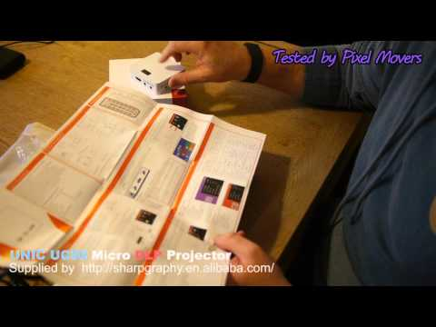 UNIC UC50 LED DLP Portable Micro (very small) Projector Review