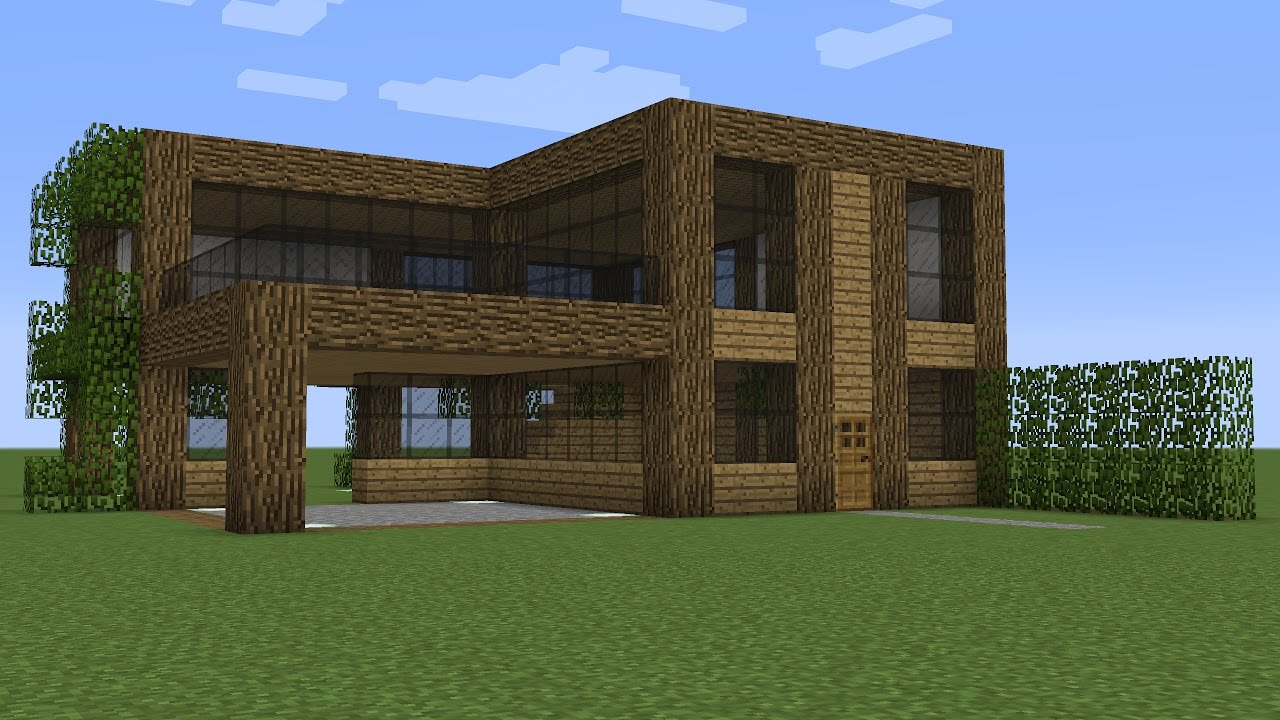 Minecraft - How to build a wooden house 12