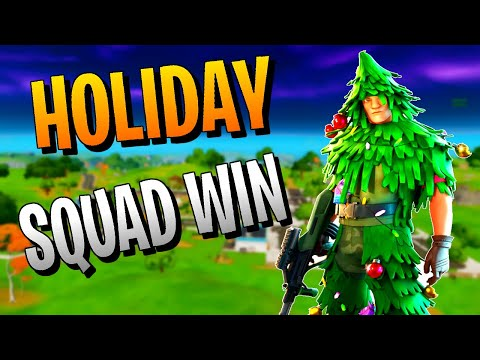Fortnite Christmas Game - Random Squad Victory Royale (Chapter 2 2019)